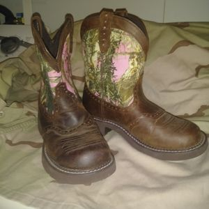 Justin Pink Camo Boots